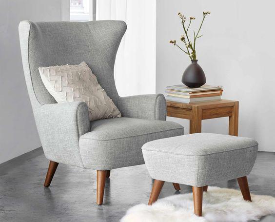 Light Grey Wooden Chair