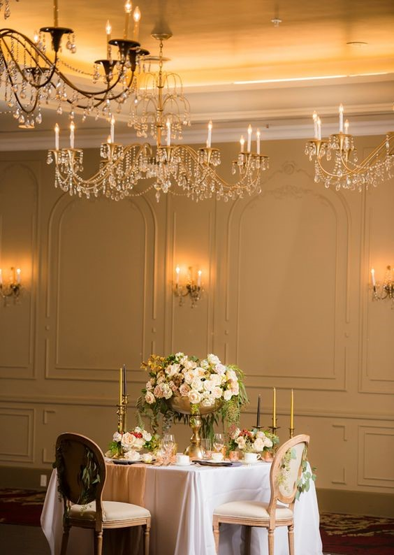 Banquet hall Table chair interior