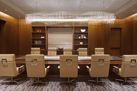Corporate office table with chairs Interior